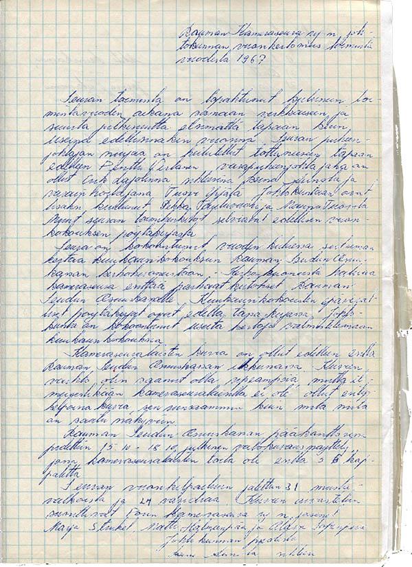 Toimintakertomus 1967